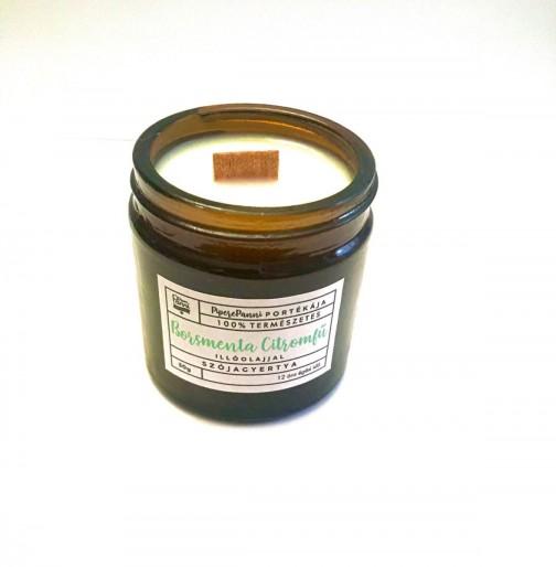 Szójagyertya borsmenta, citromfű illóolajjal mini